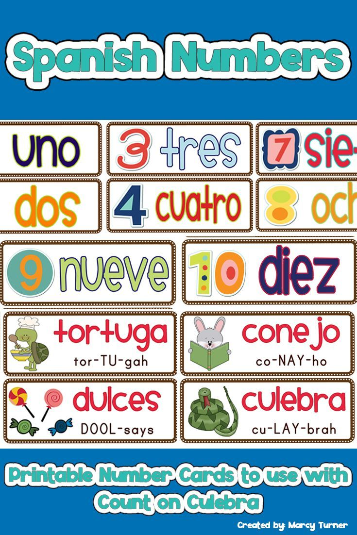 Spanish Numbers Printable Cards For Count On Culebra Book Bulletin Board Spanish Teaching Resources Elementary Teaching Resources Spanish Lesson Plans [ 1102 x 735 Pixel ]