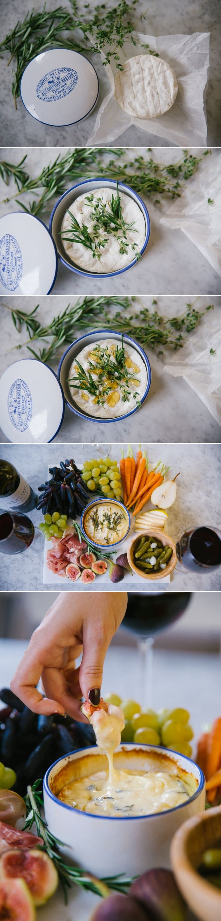 Christmas eve casual buffet ideas - Herb Honey Baked Camembert Makes An Elegant And Easy Starter For Friends Christmas Buffetchristmas Evechristmas