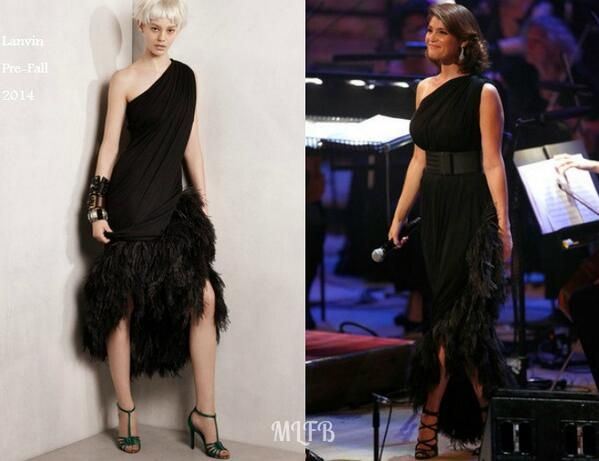 Gemma Arterton In Lanvin - Tim Rice - A Life In Song. Re-tweet and favorite it here: https://twitter.com/MyFashBlog/status/487121212733001728/photo/1