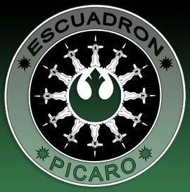 Símbolo del Escuadrón Pícaro (escuadrón de naves de la Alianza Rebelde)