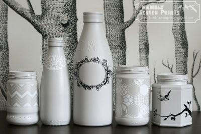 mooi versierde flesjes