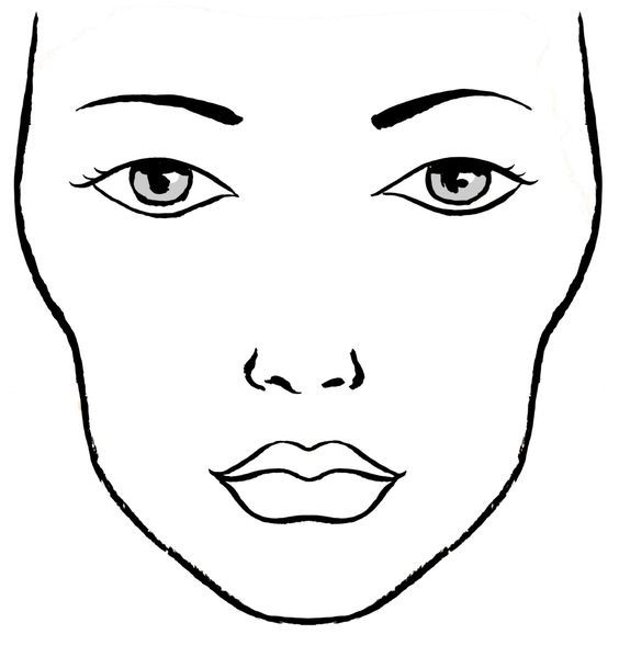 9 best blank makeup face charts images on pinterest