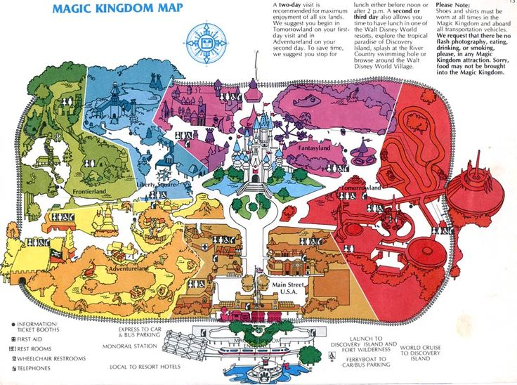 Magic Kingdom Map | Magic Kingdom 1981 only year I went here Bill and I were on our honeymoon