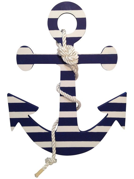 Hey, I found this really awesome Etsy listing at https://www.etsy.com/listing/196003765/14-hand-painted-wood-ship-anchor-wall