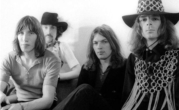 Le groupe Pink Floyd en 1969. Roger Waters, Nick Mason, David Gilmour et Rick Wright.besoin de sous?