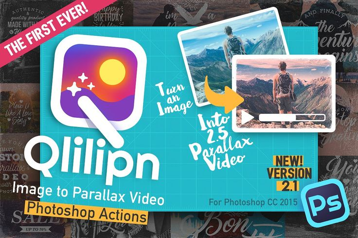 awesome Qlilipn - Image to Parallax Video  #PHOTOSHOPACTIONSPHOTOVIDEOPARALLAXINSTAGRAMFILTERSTYPOGRAPHYQUOTE