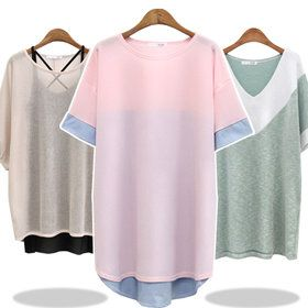 Gmarket - Thigh length sweatshirt / oversized / split hem / drop...