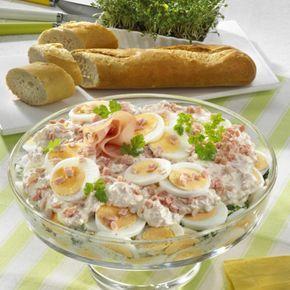 Eier-Schicht-Salat Rezept