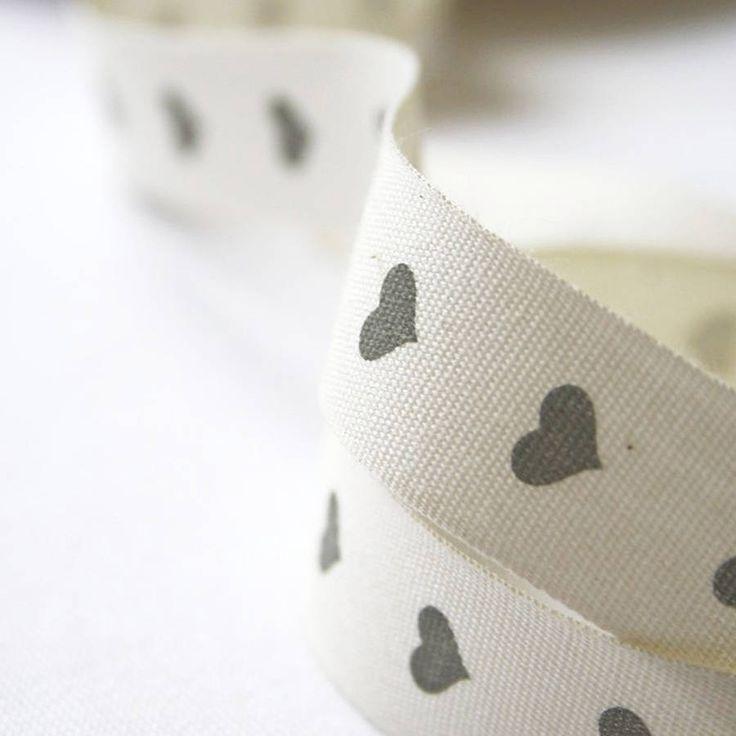 dove grey heart ribbon by le trousseau | notonthehighstreet.com