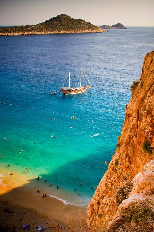 Kaputas beach, Mediterranean coast, Antalya, Turkey