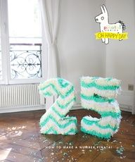 How to Make a Number Pinata {Oh Happy Day}