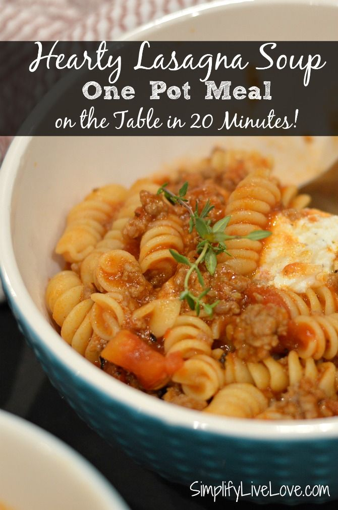 Easy lasagna soup quick and delicious one pot meal for Quick and delicious dinner recipes