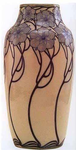 Galileo Chini (1873-1956), Glazed Decorated Ceramic Vase.