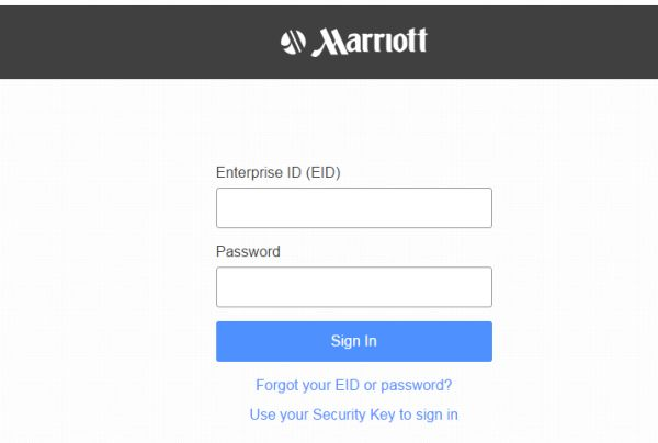 marriott extranet employee login