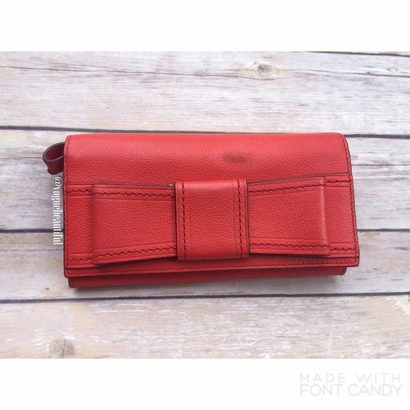 Kate Spade Villabella Avenue Mara Wallet/Wristlet Kate Spade Villabella avenue Mara wristlet/wallet in red • one blemish on front as shown, and a small hardly noticeable blemish on top flap inside • Price is discounted for this • DIMENSIONS: 7.5 inches across x 4.25 inches in height (when closed), 8.5 inches in height x 7.5 inches across • 14 card slots, 4 cash pockets & 1 zippered coin compartment • NO TRADES ‼️ kate spade Bags Wallets
