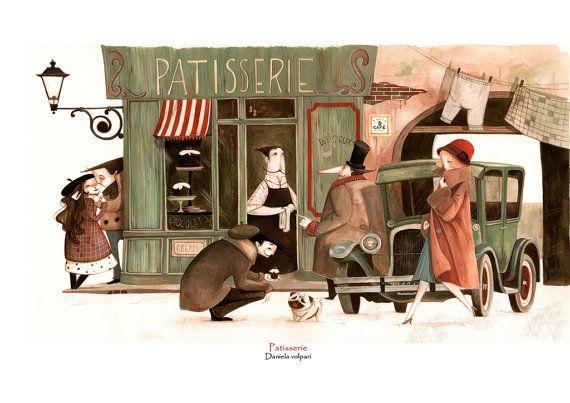 Print Patisserie by DanielaVolpari on Etsy, €16.00