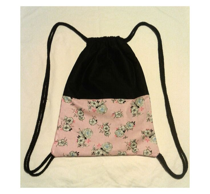 Pink Rose Drawstring Bag - Mint by Design