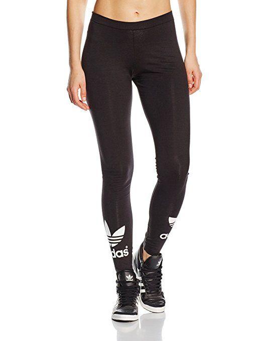 adidas Damen Leggings Trefoil, black, 34, AJ8153