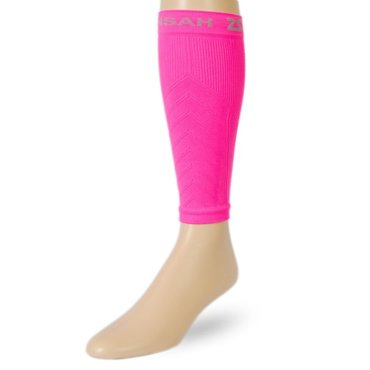 Neon Pink running calf/shin compression sleeves for runners