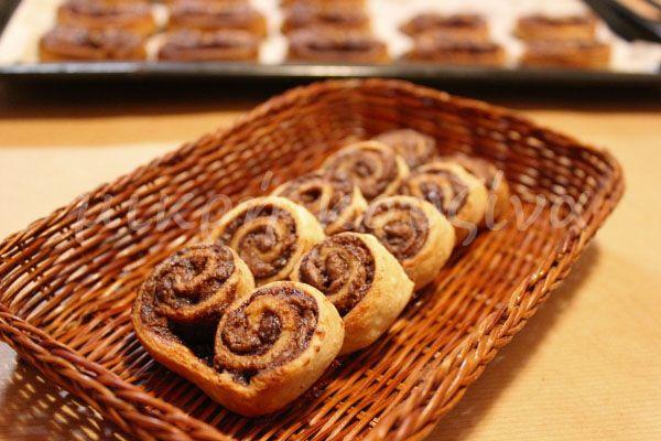 μικρή κουζίνα: Παλμιέ με νουτέλα