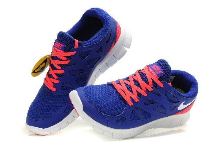 Nike Free Run 2,0 Damen & Herren Schuhe Sale Blau & Rot