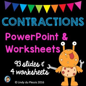 Contractions PowerPoint and Printables
