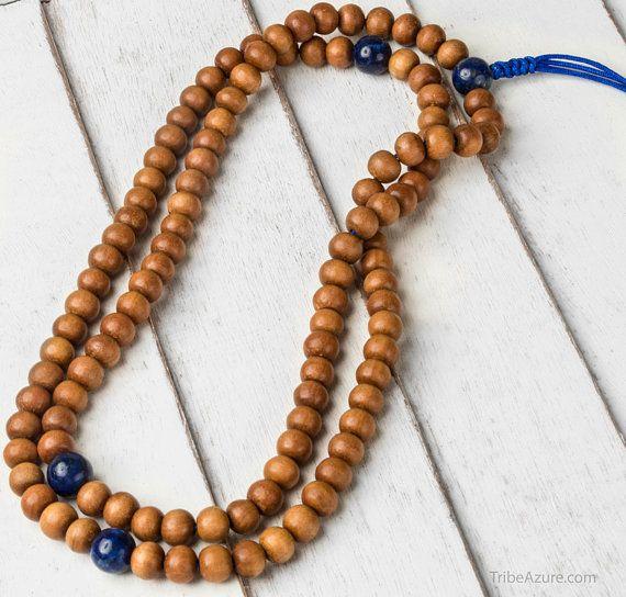 Sandalwood Buddhist Prayer Beads Healing by TribeAzureFairTrade
