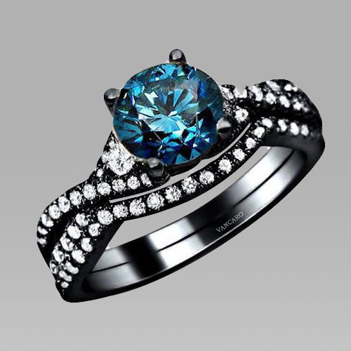 1000+ Images About Black Wedding Ring Sets On Pinterest