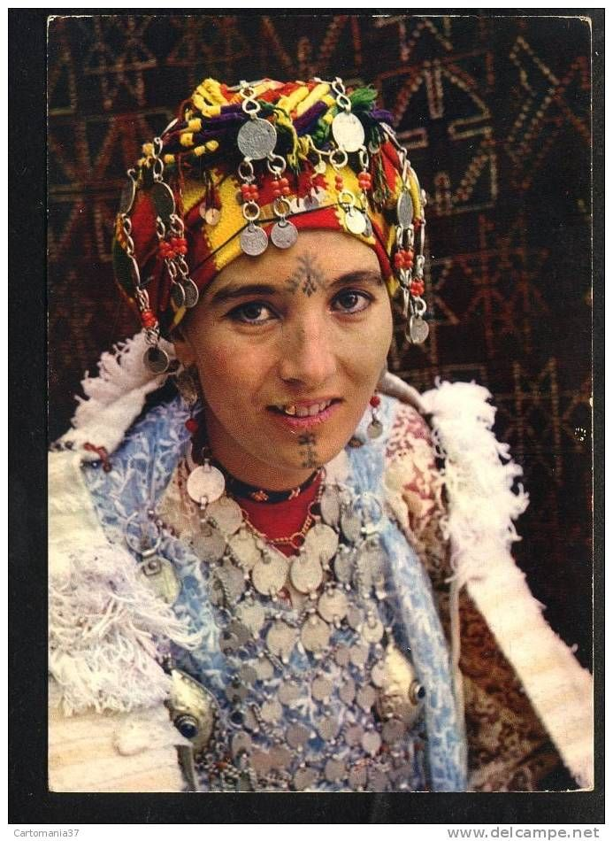 Africa | Berber woman from the South (Middle Atlas), ca 1950s | Morocco vintage postcard