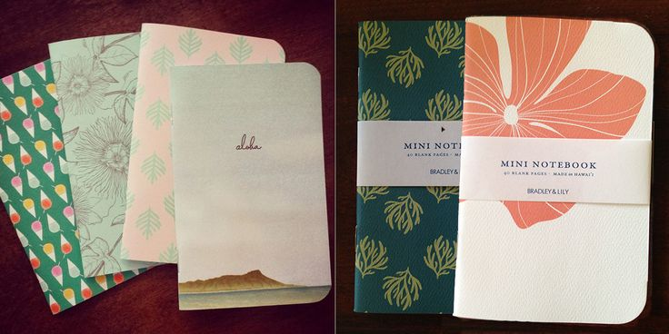 New Bradley and Lily Notebook Designs - Lei Chic - December 2014 - Honolulu, HI