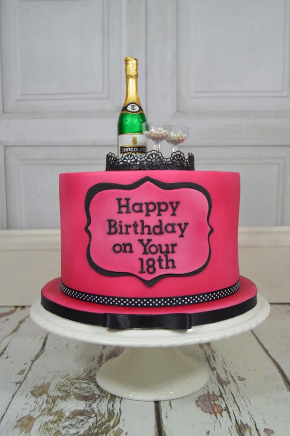 Champagne 18th Birthday Cake..x by Lulu Belles Cupcake Creations