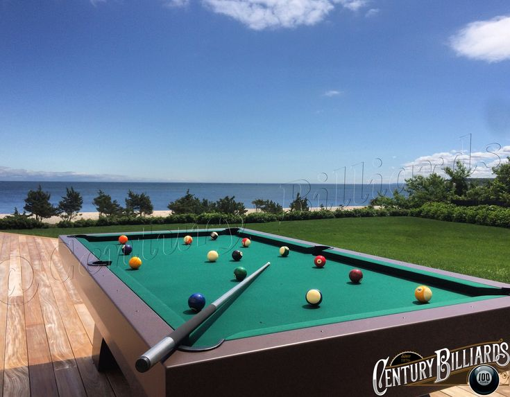 Enhance your outdoor gatherings by adding your very own custom outdoor pool table by Century Billiards of New York.