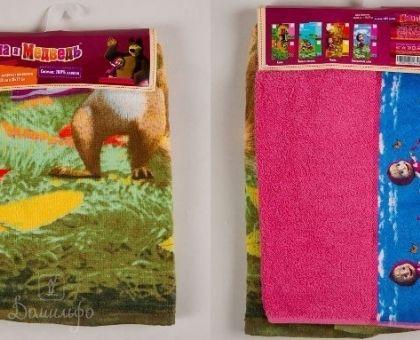 Купить набор детских полотенец с бордюром МАША И МЕДВЕДЬ ассорти (35х70 и 60х130) от производителя Непоседа (Россия)