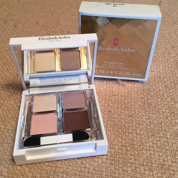 Elizabeth Arden eyeshadow quad Neutral shades of shadow Elizabeth Arden Makeup Eyeshadow