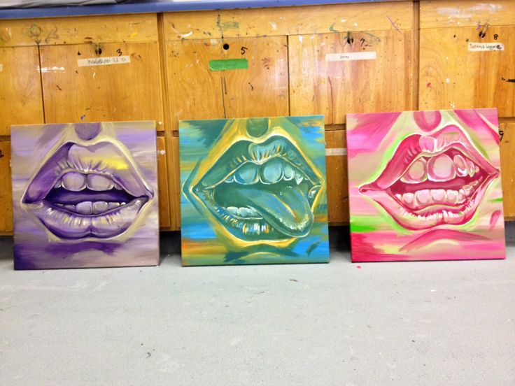 """""""Mouths"""" by Christina Hamlyn; acrylic on canvas. 2014"""
