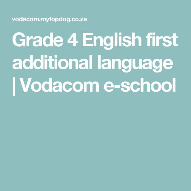 Grade 4 English first additional language   Vodacom e-school