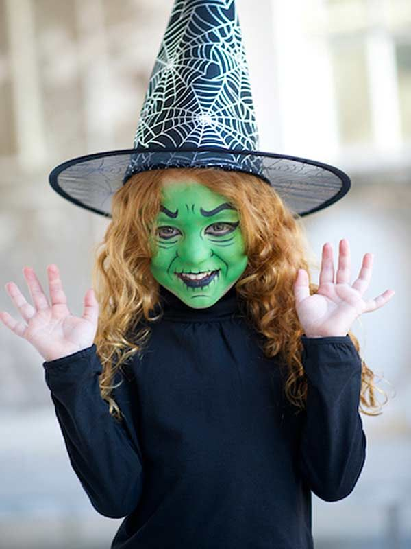 Halloween kids' face paint tutorial: Witch