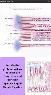 This Glitter Aquarium Makeup Brushes Set can be used for controlled eye shadow application and also can be used to blend eyeshadow make up #ad #makeup #brushes #glitter #aquarium #beauty