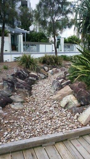 Northshore Hamilton, Brisbane. Dry river bed
