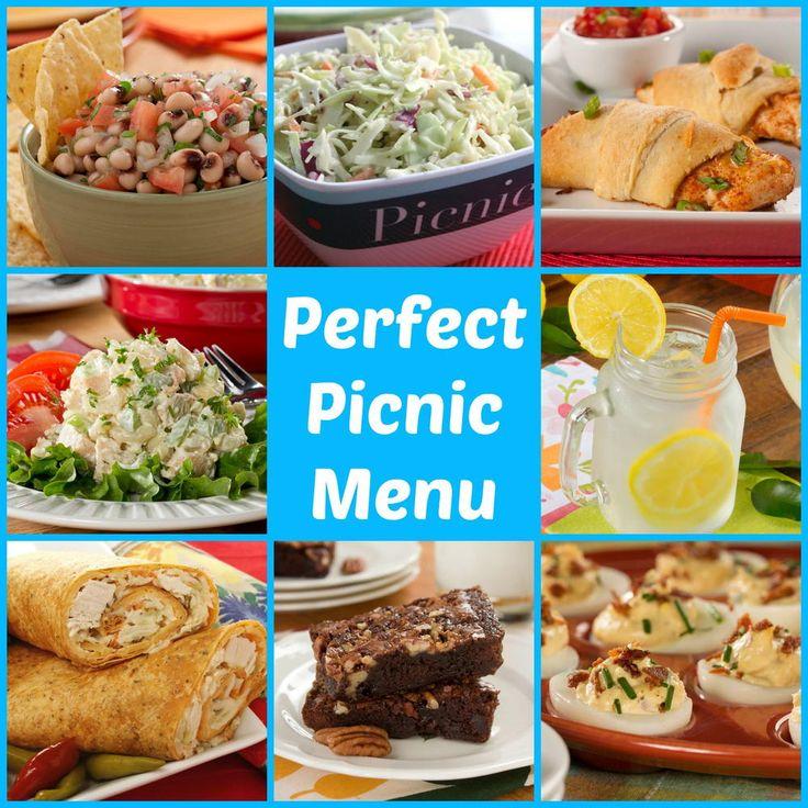 Perfect Picnic Menu: 53 Make Ahead Picnic Recipes (lots of ideas - good for road trips too)