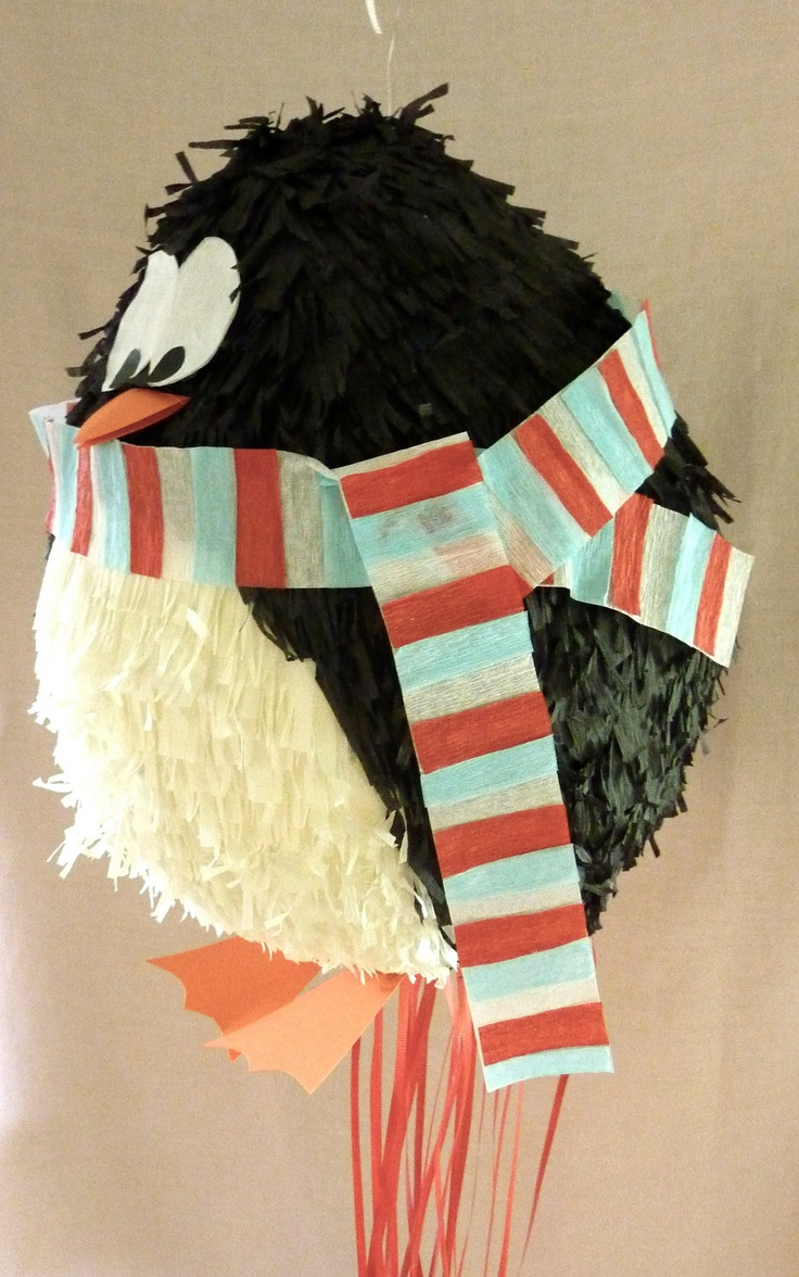 cute penguin piñata / via Etsy