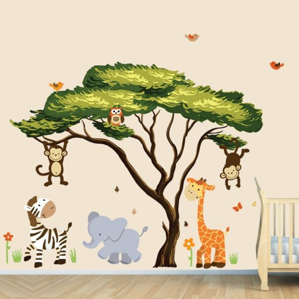 wandtattoo kinderzimmer dschungel große abbild der dafdbcaddddb safari jungle jungle animals