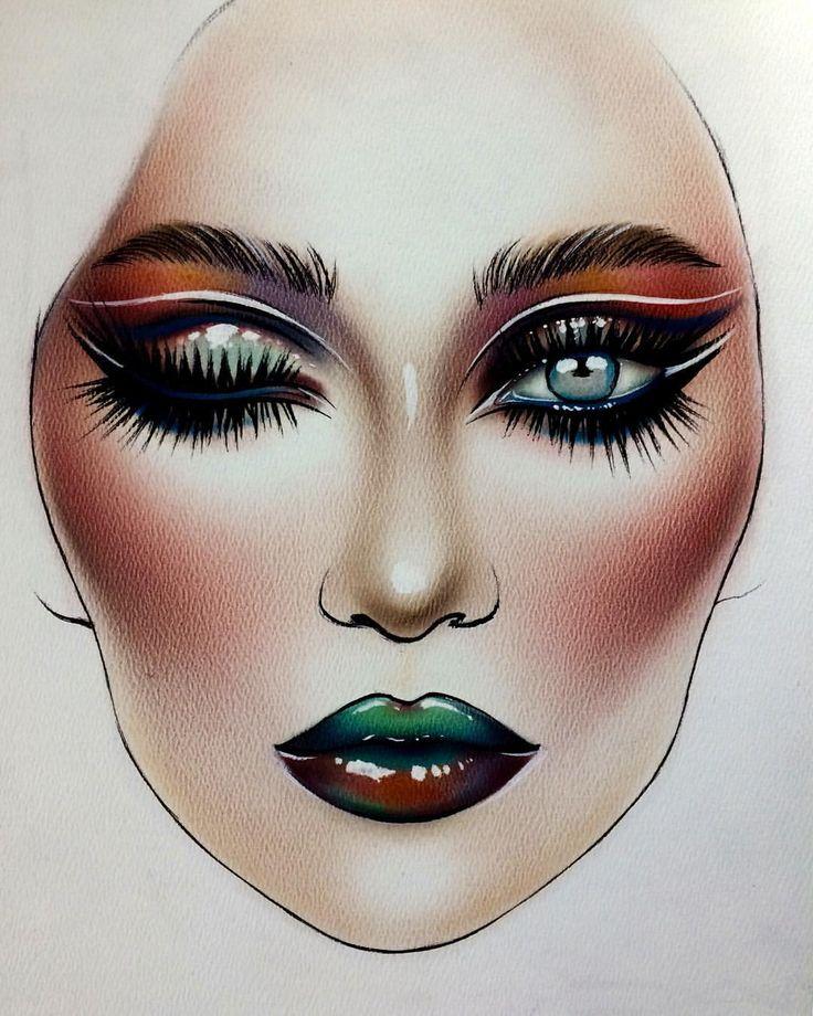 makeup drawing face - photo #7