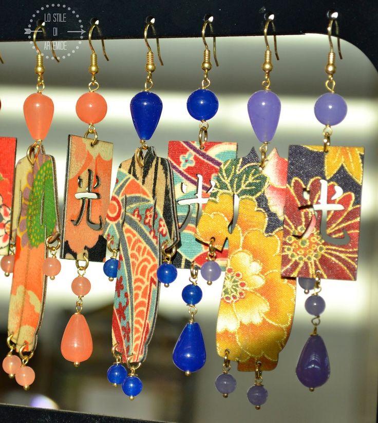 Made in Italy Silk earrings by Lebole Gioielli