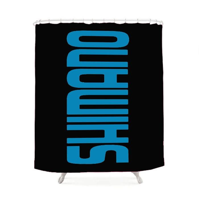 New Shimano Bike Fishing Reel Shower Curtain