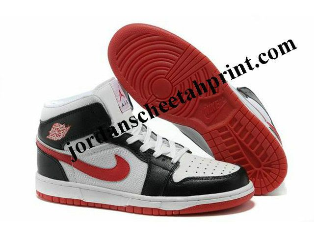 New Nike Air Jordan 1 Shoes White/Black/Red For Sale