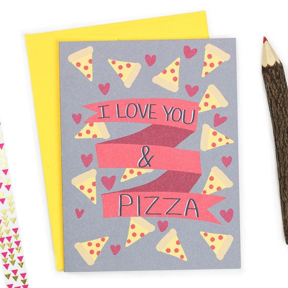 Pizza Love Funny Valentine Funny Love Card Pizza by TurtlesSoup Valentines Cards  i love you and pizza  pizza love funny love card  foodie  boyfriend card  pizza  pizza party  anniversary gift  valentine's day card  funny valentine pizza lovers  pizza card  card for best friend