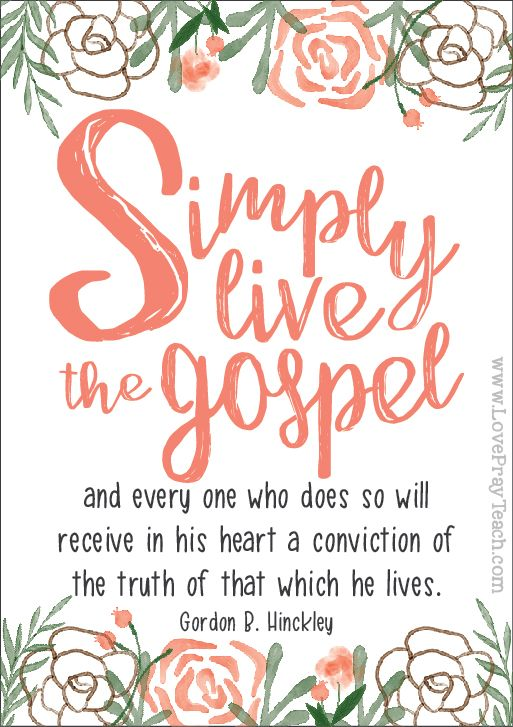 "Gordon B. Hinckley Chapter 12: ""Obedience: Simply Live the Gospel"" Relief Society Lesson Helps including activity ideas, handouts, power point, and more! www.LovePrayTeach.com"