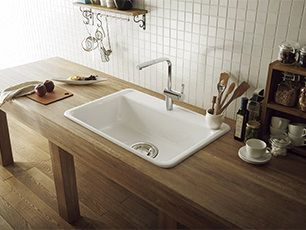 CEL518S シングルシンク| 美しいデザインの洗面台をはじめとした水まわり商品のセラトレーディング