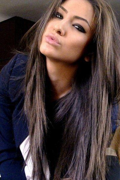 love this color!Fur Coats, Hair Colors, Dark Hair, Straight Hair, Black Hair, Hairmakeup, Long Hair, Hair Makeup, Hair Style